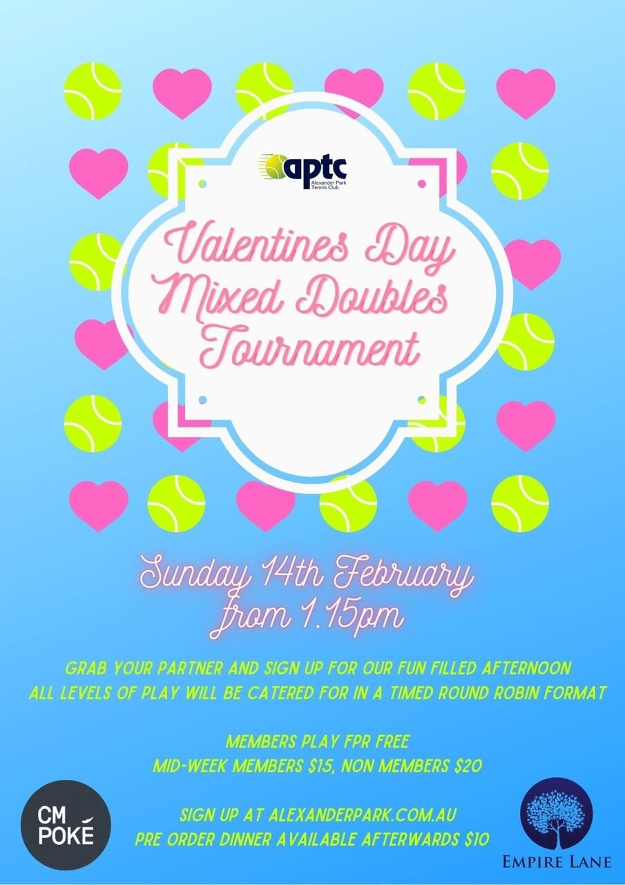 Valentines Day Mixed Doubles Tournament